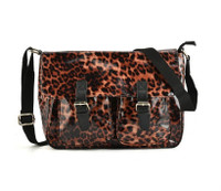 Leopard Print Crossbody Bag with Buckle Detail (HB12)