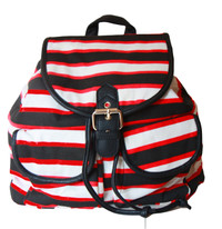 Stripe Backpack with Buckle Detail (HB10)