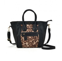Crossbody Bag with Leopard Print