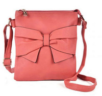 Pink Shoulder Bag with Bow Detail (HB7)