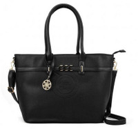 Black Handbag with Metal Detail (HB4)