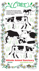 Hillside Cow Design T-Towel