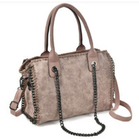 Stylish Retro Bag with Chain Decoration (HB60)