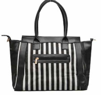 Black and White Striped Bag (HB64)