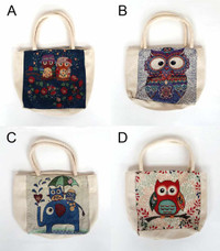 Owl Mini Tote Bags (Various Designs) (HB68)