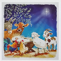 Hillside Christmas Cards - Animals Around the Manger