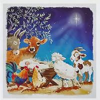 Hillside Christmas Cards - Animals Around the Manger