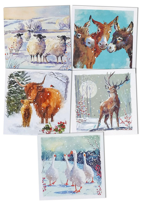 Wildlife Christmas Cards.New 2019 Hillside Christmas Cards Winter Animals