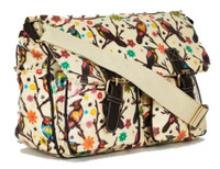 Bird Design Oilcloth Shoulder Bag (HB72)