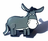 Donkey Pin Badge