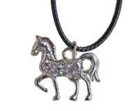 Petite Diamante Horse Pendant