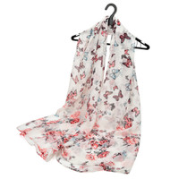 Floral Supersoft Butterfly Scarf (S1)