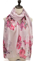 Supersoft Rose and Butterfly Scarf (S2)