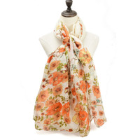 Vintage Style Floral Design Supersoft Scarf (S6)