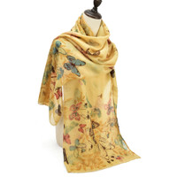Floral and Large Butterfly Design Supersoft Scarf (S8)