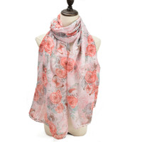 Floral Butterfly Design Supersoft Scarf (S9)