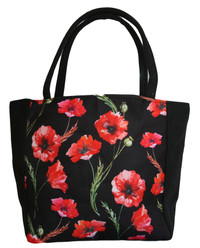 Mini Tote Bag in Poppy Design