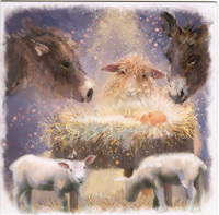 'Away in a Manger'  Christmas Cards