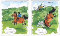 Horse Cartoon Cards