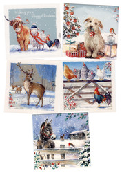'Let it Snow' Hillside Christmas Cards
