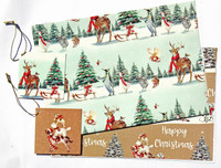 2020 Christmas Wrapping Paper with Tags