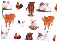 Hillside Farm Animal Design Deluxe Wrapping Paper