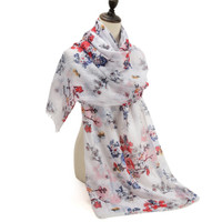 Pretty Floral Design Scarf (S12)