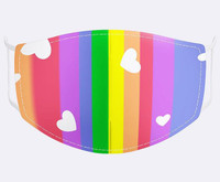 Rainbow and Hearts Design Face Mask