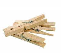 Pine Clothes Pegs X 36