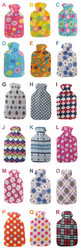 Hot Water Bottles with Fleece Cover
