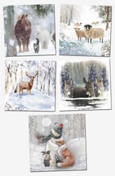 'Snowy Friends' Hillside Christmas Cards