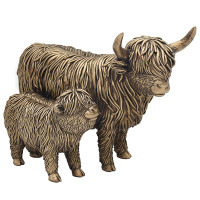 Highland Cow with Calf Ornament