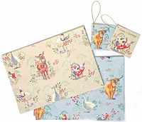 Hillside Christmas Wrapping Paper and Tags