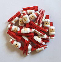 Pack of 20 Father Christmas Card Pegs
