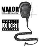 VALOR.  Remote Speaker-Microphone - 3.5mm connector.