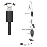 TRIUMPH 1-Wire PTT Earpiece  (Lightning iOS)