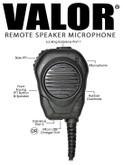VALOR® RSM  - PTT Speaker/Microphone for Motorola WAVE PTT