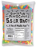 Super Fun Penis Candy 5.5 Pound Bulk Bag (assorted colors only)