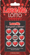 Keeping the romance and excitement going is easy with these fun scratch-off loving lotto tickets, you never know what may happen next. Includes 12 unique lotto scratch-off tickets.