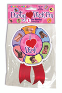 Who doesn't! This wearable pin compliments our Dirty Penis Party Supplies. Now you will know who theparty is in honor of because that special person will be adorned with this fabulous pin.