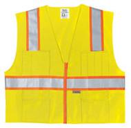 Class 2 Poly Safety Vest3 Org/Silv SurvLXL SURVLXL