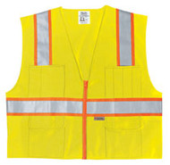 Class 2 Poly Safety Vest 3 Org/Silv