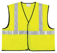 CLASS II SOLID POLY FLUORESCENT LIME SAFETY VEST VCL2SLX3