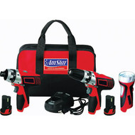 10.8V Li-Ion Cordless Compact Combo Kit w/ Bag AMS3003