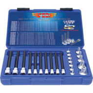 22 Pc. Half Cut Torx Tamper Proof Socket Bit Set VIMHCTSD