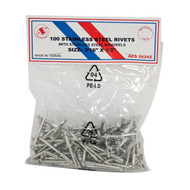 "Stainless Steel Rivets - 1/8"" x 3/8"" - 100PC 26234"