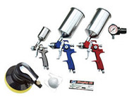 "HVLP Spray Gun Set with 6"" Random Orbital Palm Sander ATD-6900"