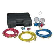 Robinair R12 & R134a Aluminum Manifold, Hose Set And Service Couplers
