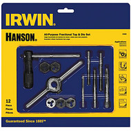 12-Pc  Tap & Hex Die Set with Case IRW24605