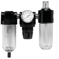 Poly Filter, Regulator, Lubricator and Gauge Modular Unit with Manual Drain